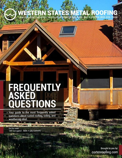 Corten Roofing FAQ eBook Cover