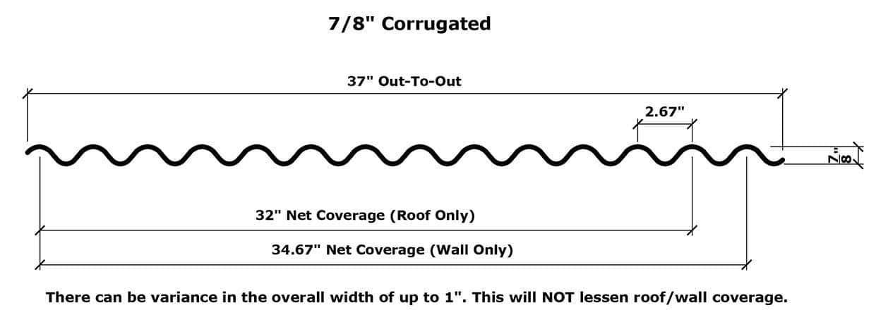 "7/8"" Corrugated"